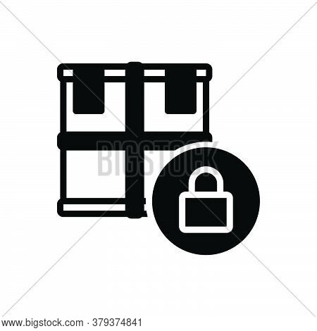 Black Solid Icon For Cargo-protection Cargo Protection Box Delivery Goods Operator Insurance Securit