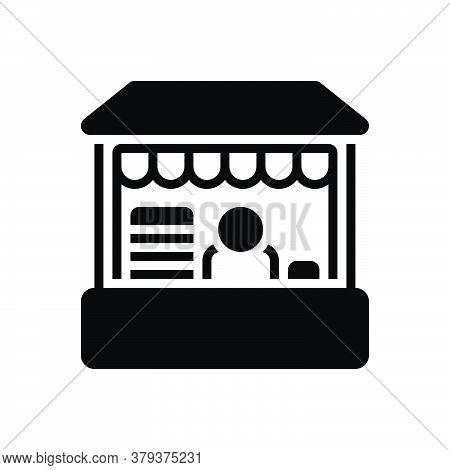 Black Solid Icon For Retail-place Retail Place Market Boutique Buy Commerce Grocery Supermarket Prod