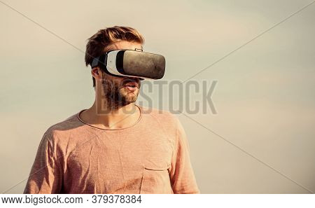 It Is So Real. Male Reality. Looking Modern. Create Own Business. Digital Future And Innovation. Mac