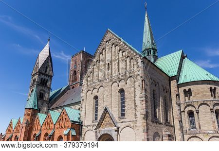 Towers Of The Domkirke Church In Ribe, Denmark