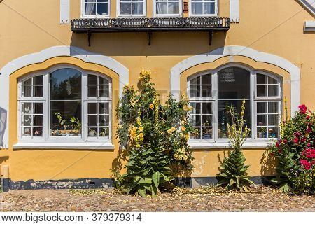 Facde Of A Historic Yellow House In Ribe, Denmark