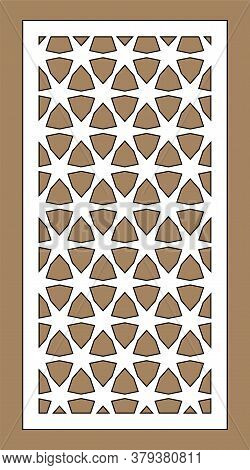 Arabic Islamic Decorative Wall, Screen, Panel Pattern With Stars. Vector Template.decorative Vector