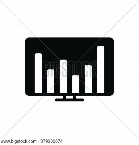 Black Solid Icon For Financial-data Financial Data Commercial Economic Monetary Pecuniary Graphic St