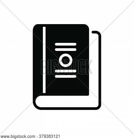Black Solid Icon For Book Booklet Dictionary Publication Education Read Literature Encyclopedia Maga