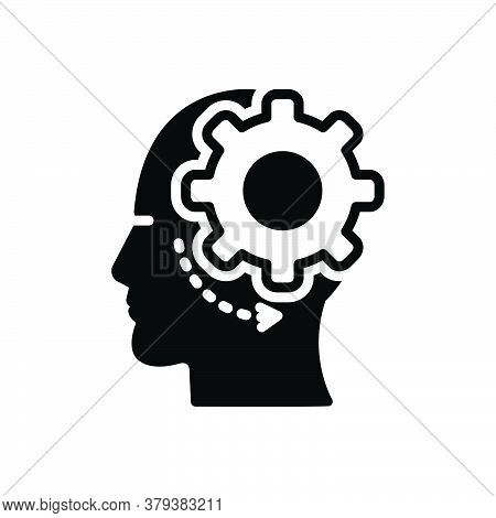 Black Solid Icon For Brain-process Brain Process Neuroscience Concept Thinking Activity Creativity B