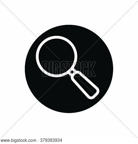Black Solid Icon For Magnifying-glass Magnifying Glass Search Discovery Find Optical
