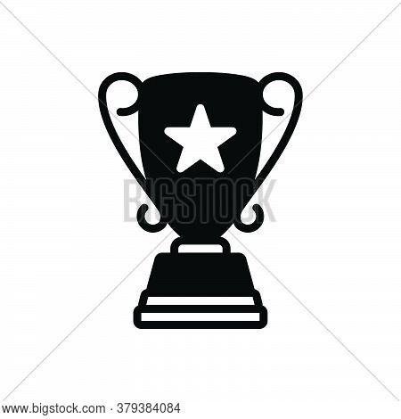 Black Solid Icon For Top-award Top Award Accolade Trophy Achievement Accomplishment Triumph Victory
