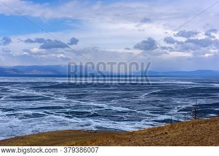 Baikal Lake In The May Ice Drift.