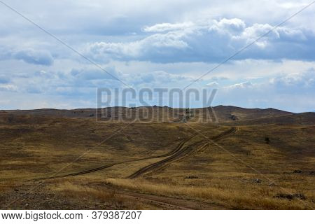 Sandy Country Road On The Island Of Olkhon