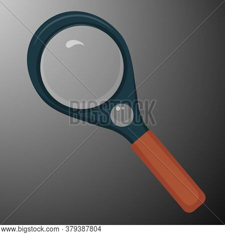 Vector Illustration Of Magnifying Glass. Magnifying Glass.