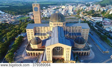 National Basilica Of Nossa Senhora Aparecida, Patron Saint Of Brazil. Shrine Located In The City Of