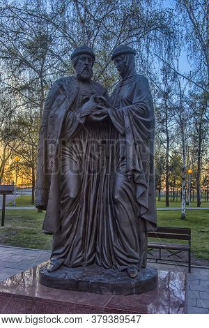 The Monument To Blessed Prince Pyotr And Princess Fevronia Murom In Irkutsk