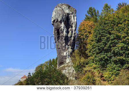 Rock Called Maczuga Herkulesa In National Ojcow Park