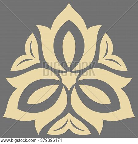Elegant Vintage Vector Golden Triangular Ornament In Classic Style. Abstract Traditional Pattern Wit