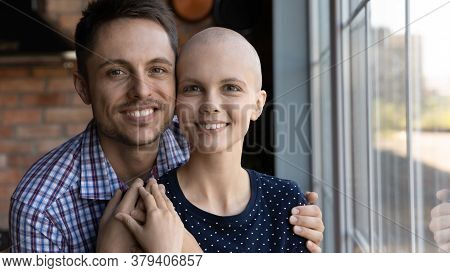 Portrait Of Loving Husband Hug Support Sick Wife