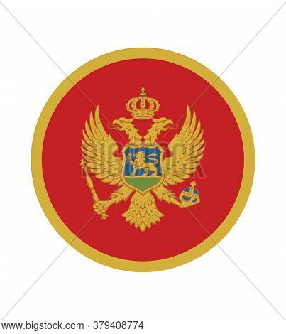 National Montenegro Flag, Official Colors And Proportion Correctly. National Montenegro Flag.