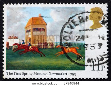 Postage stamp GREAT BRITAIN 1979 The First spring meeting