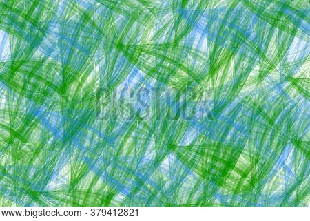 Green And White Aqua Blue Criss Cross Abstract Illustration Pattern