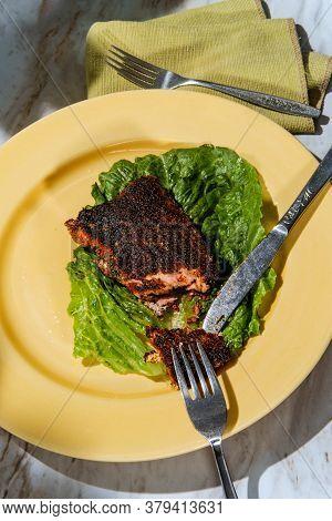 Cajun Blackened Salmon Steak