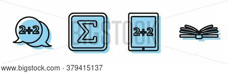 Set Line Calculation, Geometric Figure Cone, Geometric Figure Square And Mobile Calculator Interface