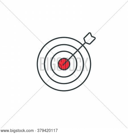 Target Icon, Aim Symbol For Your Web Site Design, Logo, App, Ui. Stock Vector Illustration Isolated