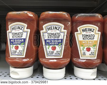 Indianapolis - Circa July 2020: Kraft Heinz Branded Specialty Ketchup. Kraft Heinz Is The Fifth Larg