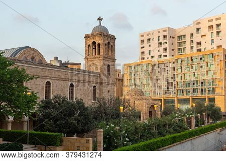 Beirut, Lebanon, August 08.2018: Saint George Greek Orthodox Cathedral In Downtown Beirut. The Citys