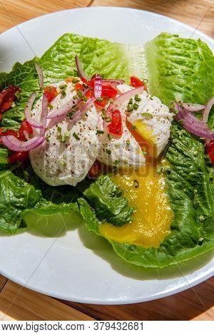Poached Eggs Runny Yolk