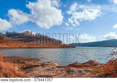 View Of Kolob Reservoir Near Zion National Park In Autumn. Zion National Park. Utah. Usa