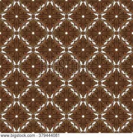 Unique Circle Motifs On Kawung Batik With Very Distinctive Dark Brown Color.