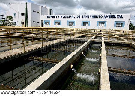 Itabuna, Bahia / Brazil - March 2, 2012: Water Treatment Plant (eta) Of The Municipal Water And Sani