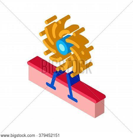 Firework Decorative Icon Vector. Isometric Firework Decorative Sign. Color Isolated Symbol Illustrat