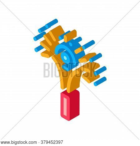 Sparkling Firework Icon Vector. Isometric Sparkling Firework Sign. Color Isolated Symbol Illustratio