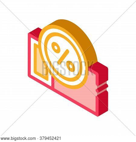 Webshop Coupon Icon Vector. Isometric Webshop Coupon Sign. Color Isolated Symbol Illustration