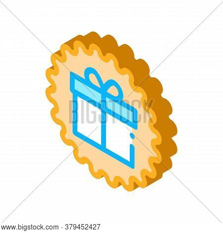 Webshop Gift Icon Vector. Isometric Webshop Gift Sign. Color Isolated Symbol Illustration