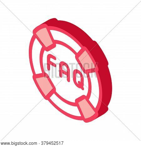 Webshop Faq Icon Vector. Isometric Webshop Faq Sign. Color Isolated Symbol Illustration