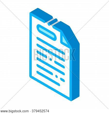 Webshop Agreement Icon Vector. Isometric Webshop Agreement Sign. Color Isolated Symbol Illustration