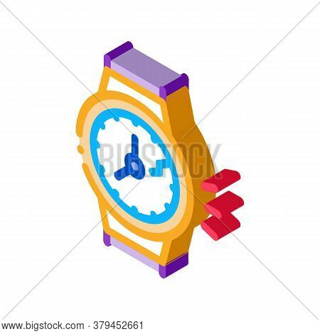 Broken Watch Icon Vector. Isometric Broken Watch Sign. Color Isolated Symbol Illustration