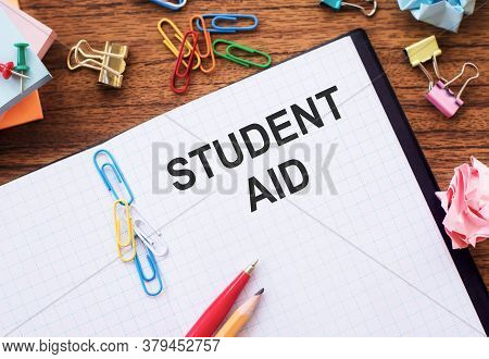 Student Aid. Student Help And Support Concept. Student Loan