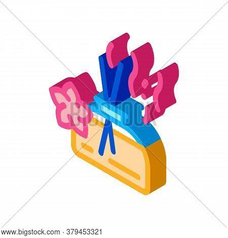Aroma Odor Parfume Stick Icon Vector. Isometric Aroma Odor Parfume Stick Sign. Color Isolated Symbol
