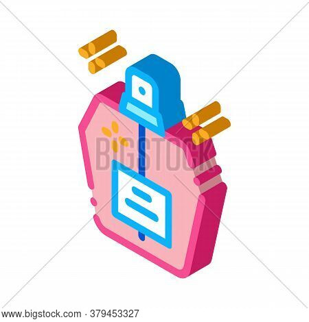 Aroma Odor Parfume Icon Vector. Isometric Aroma Odor Parfume Sign. Color Isolated Symbol Illustratio