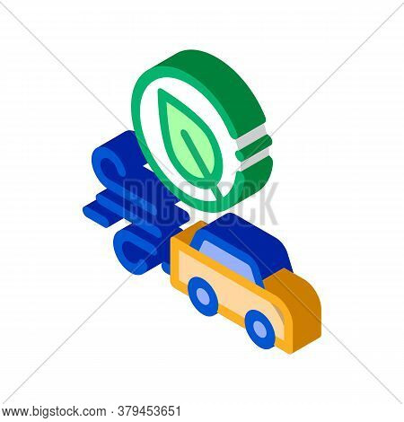Electro Car Speed Icon Vector. Isometric Electro Car Speed Sign. Color Isolated Symbol Illustration