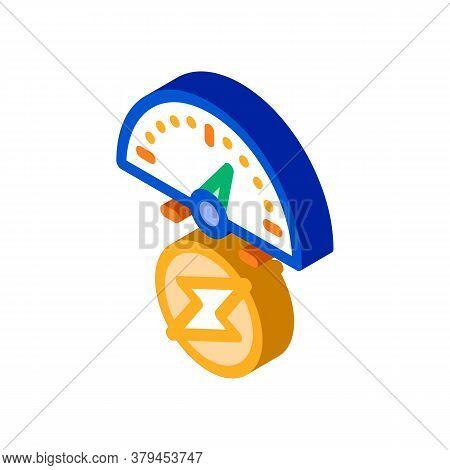 Electro Car Charge Sensor Icon Vector. Isometric Electro Car Charge Sensor Sign. Color Isolated Symb