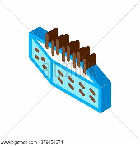 House Foundation Fittings Icon Vector. Isometric House Foundation Fittings Sign. Color Isolated Symb