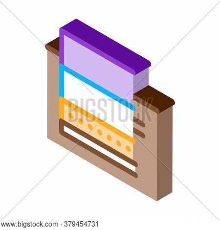 Floating Foundation Icon Vector. Isometric Floating Foundation Sign. Color Isolated Symbol Illustrat