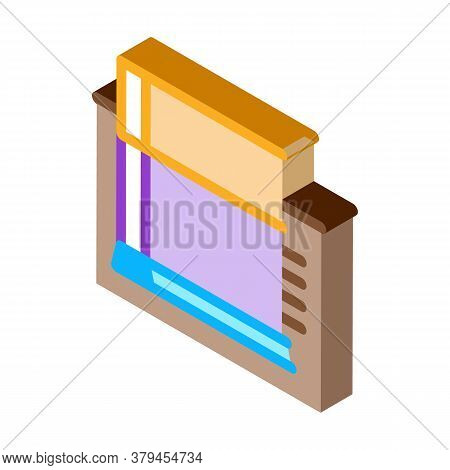 Strip Foundation Icon Vector. Isometric Strip Foundation Sign. Color Isolated Symbol Illustration