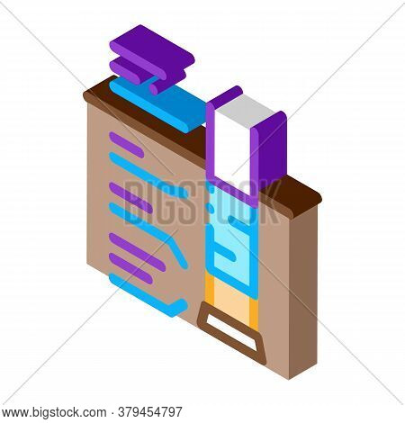 House Foundation Structure Icon Vector. Isometric House Foundation Structure Sign. Color Isolated Sy