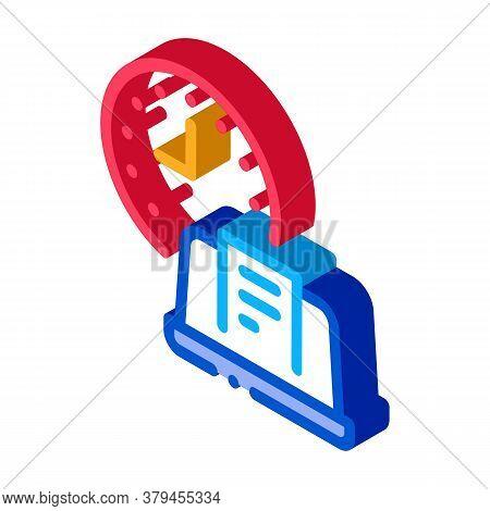 Report Deadline Icon Vector. Isometric Report Deadline Sign. Color Isolated Symbol Illustration