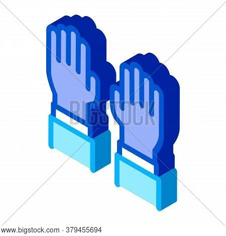 Surgeon Gloves Icon Vector. Isometric Surgeon Gloves Sign. Color Isolated Symbol Illustration