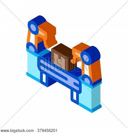 Manufacturing Automatic Equipment Icon Vector. Isometric Manufacturing Automatic Equipment Sign. Col